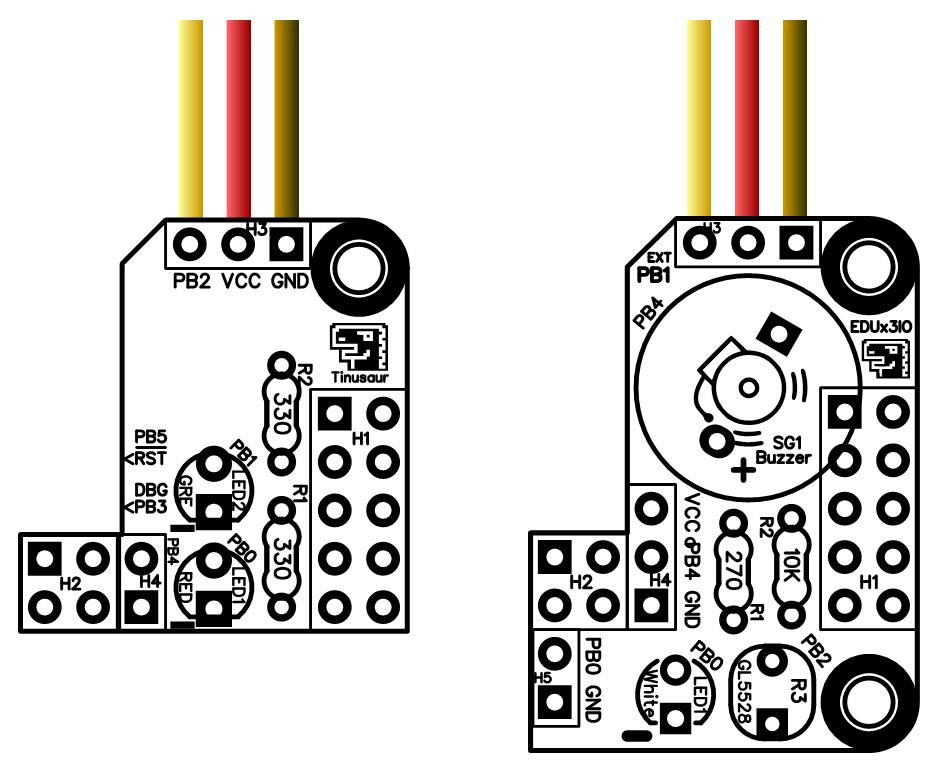 Серво мотор - свързване към Тинузавър